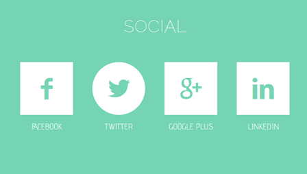 fancy-flat-social-button-animation