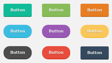 rounded css buttons