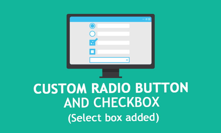 custom radio button and checkbox